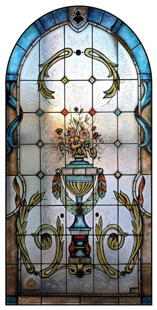 Luxury gold stained glass