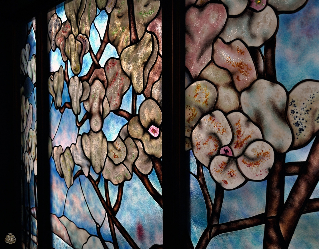 "Tiffany ""Trees"" stained glass"