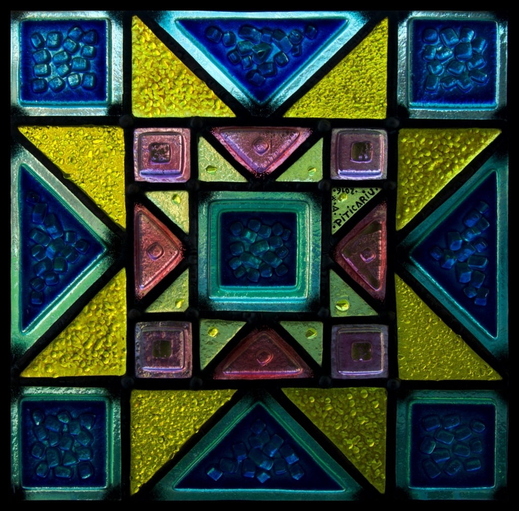 """""""Arabesque"""" Tiffany stained glass"""
