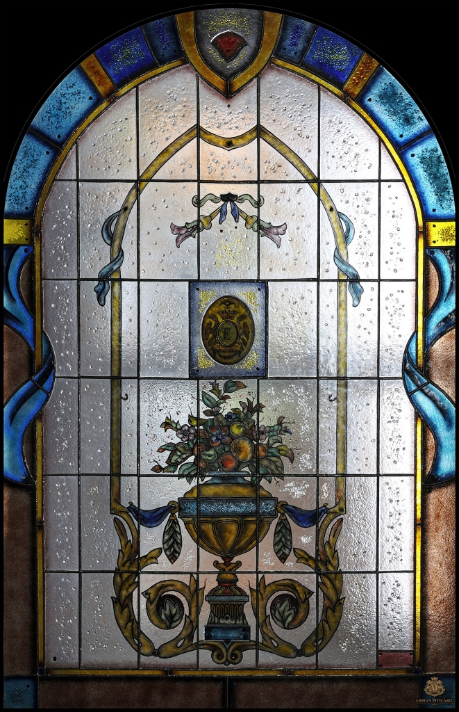Classic Art Nouveau stained glass