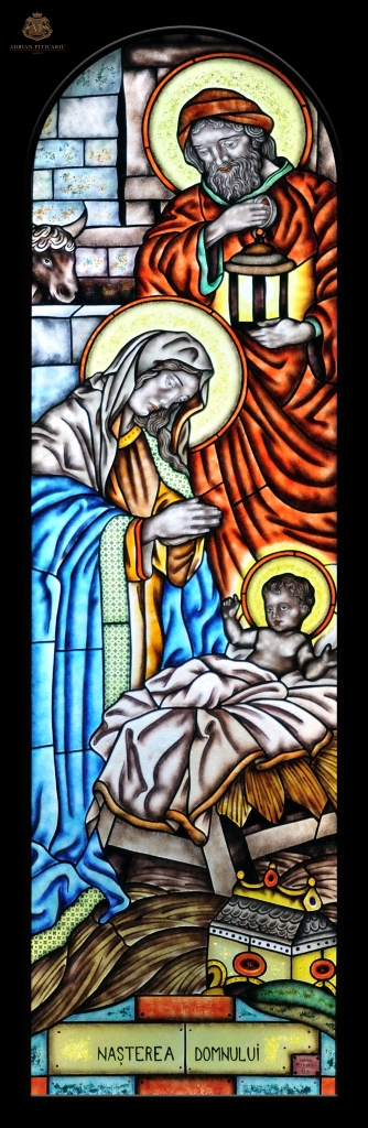 """""""Nativity"""" stained glass"""
