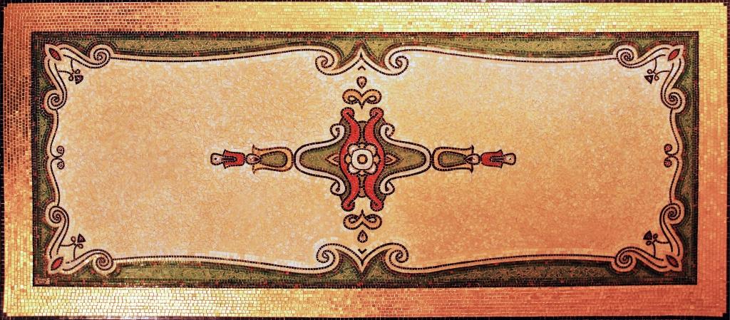 Luxury gold mosaic carpet
