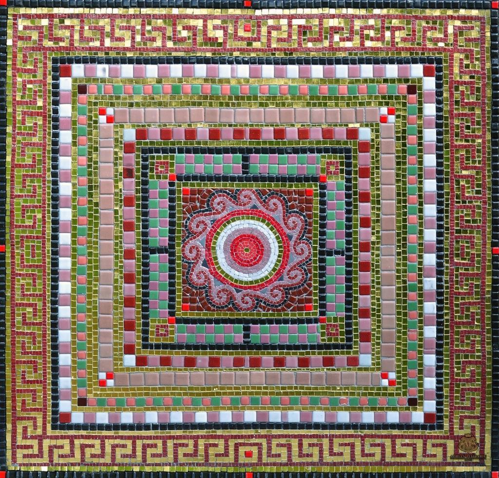 Greek decorative mosaic