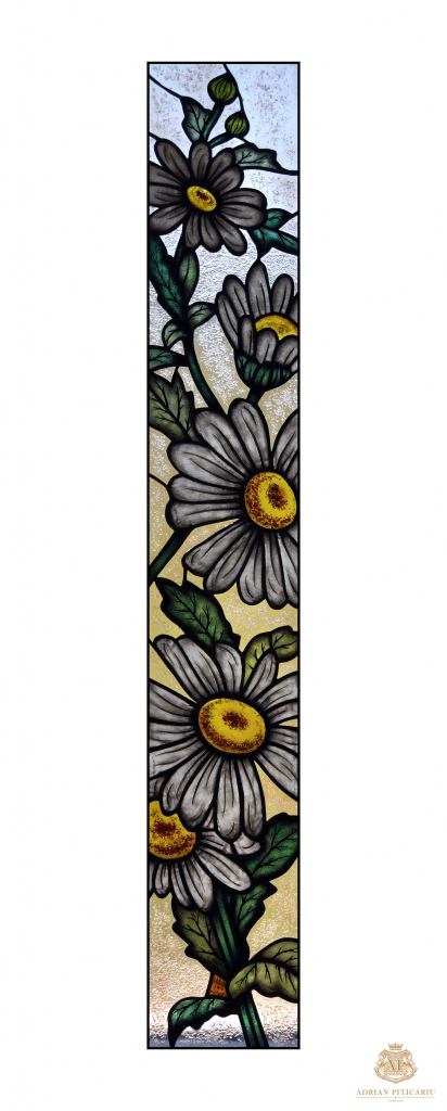 """""""Daisies"""" stained glass"""