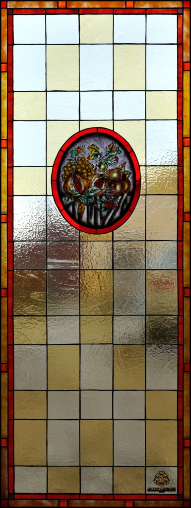 Fruits and flowers stained glass